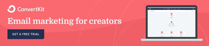 ConvertKit banner ad