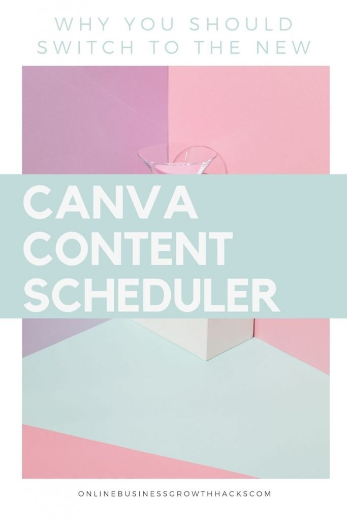 Canva content planner and calendar
