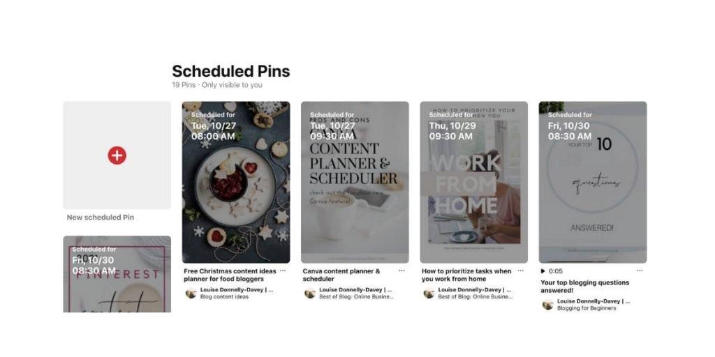 Pinterest scheduler