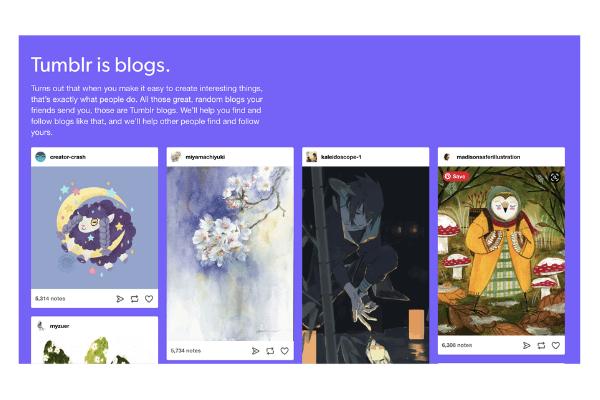 Tumblr for microblogging