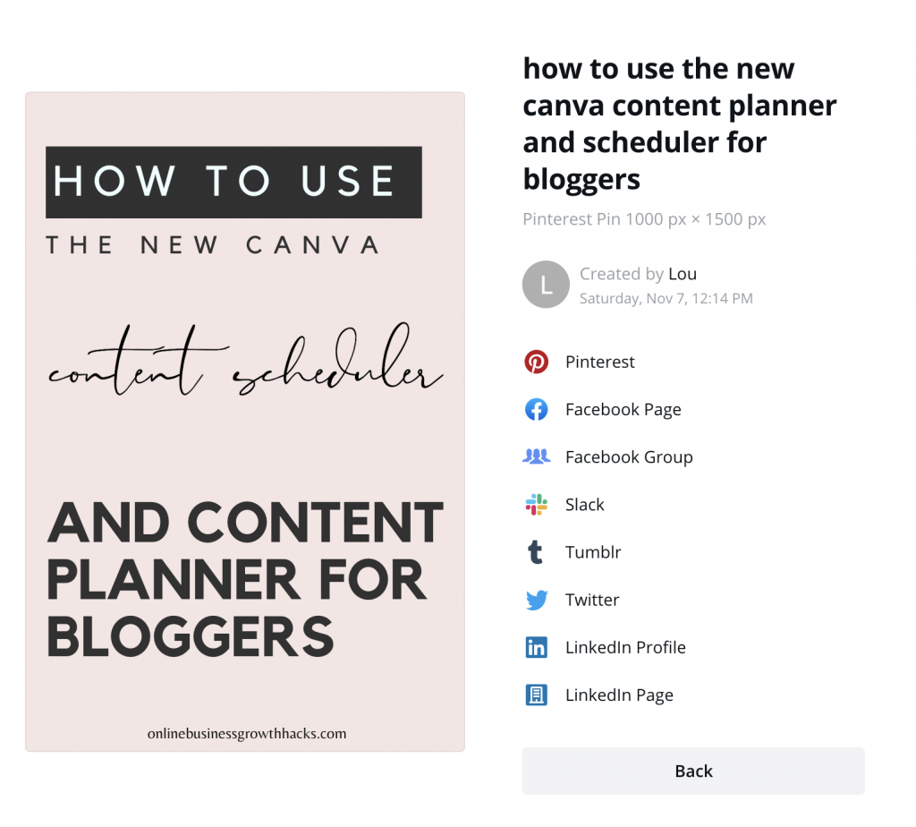 How to connect your social accounts on Canva