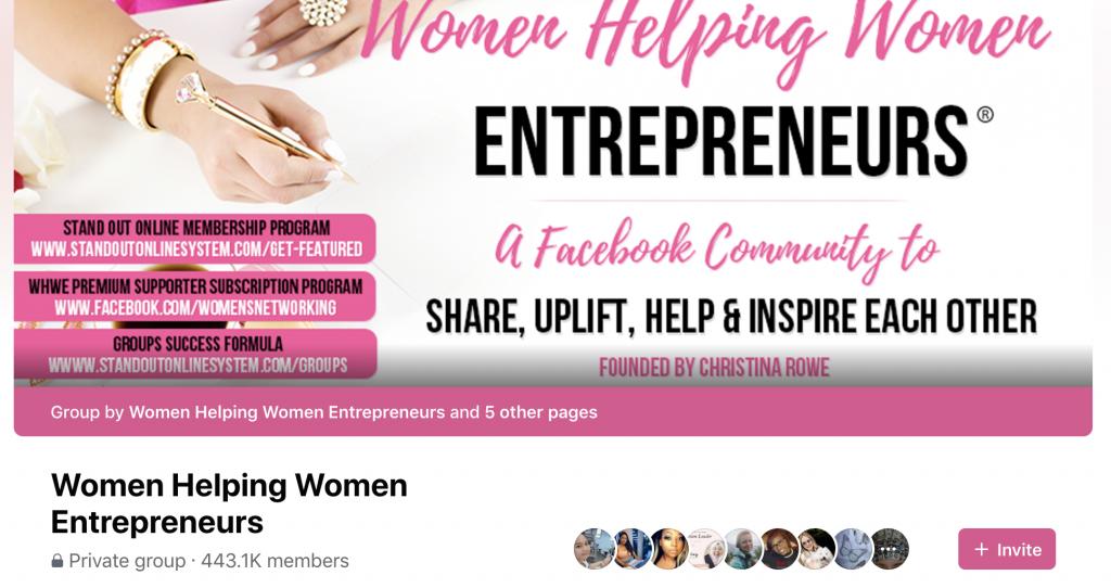 Facebook group banner