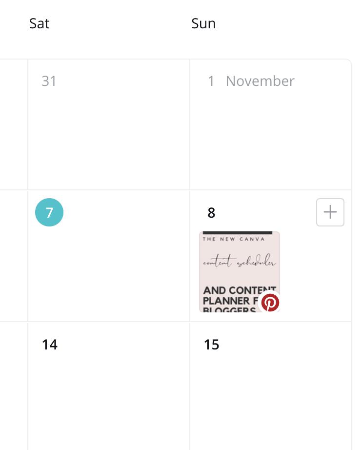 Canva content calendar