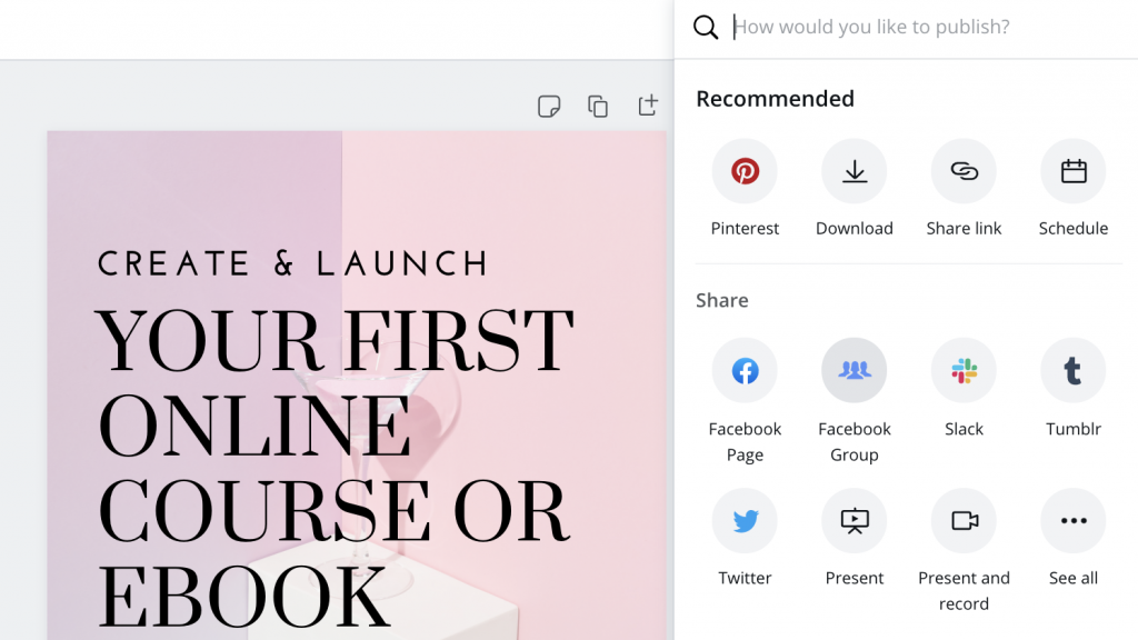 How to schedule to Facebook Groups in Canva content planner and scheduler